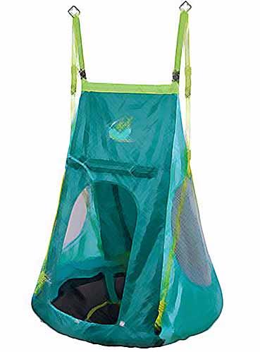 Une tente balançoire nid d'oiseau suspendue de couleur bleu